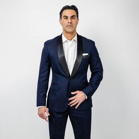 James Bond 1 Button Shawl Collar Tuxedo