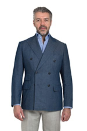 We make all sorts of sport coats. This one is a Denim sport coat inspired by Ralph Lauren.