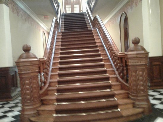One of the many staircases