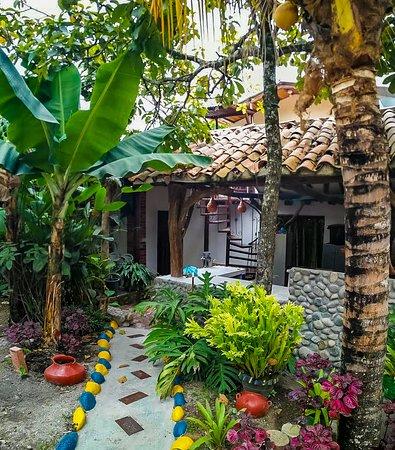 Gigante, Kolumbia: alimentos totalmente naturales, como plátanos y más.