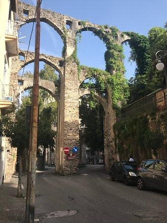 Beautiful arch aqueduct