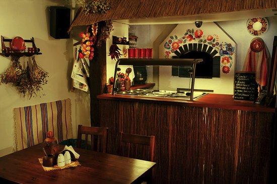 bar z ukraińskim piecem