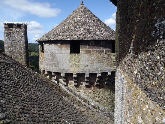 Tournemire, Frankrike: vue sur les toits, du chemin de ronde