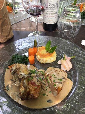 Creuzier-le-Vieux, Frankrike: Un excellent déjeuner