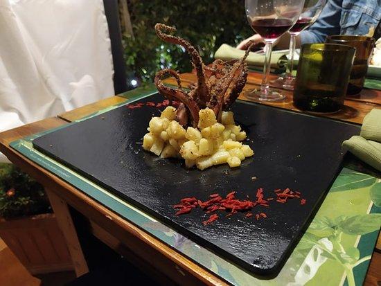 octopus with potato