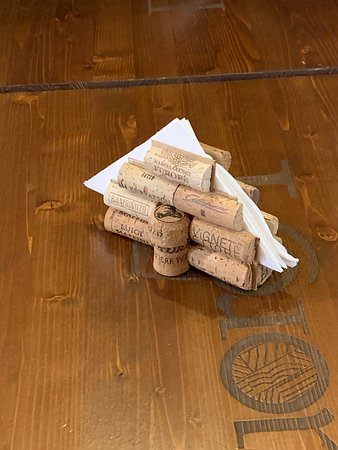 Table Decoration - wine corks of course!! - Picture of ...