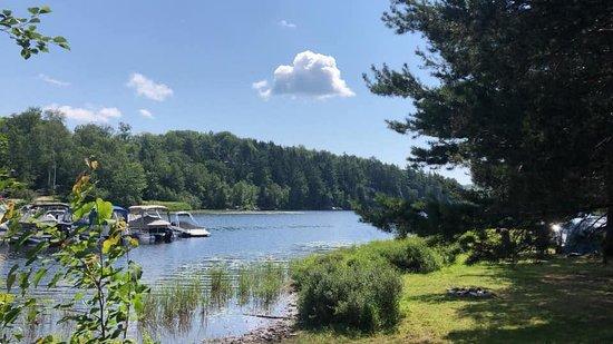 Saint-Ubalde, Canada: Vue du terrain de camping