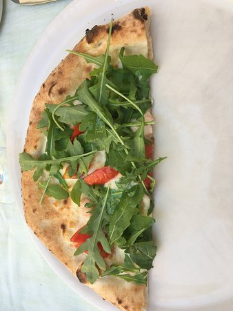 Half slice of pizza