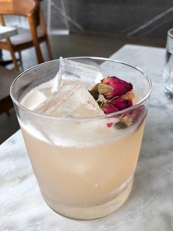 Bourbon rose cocktail