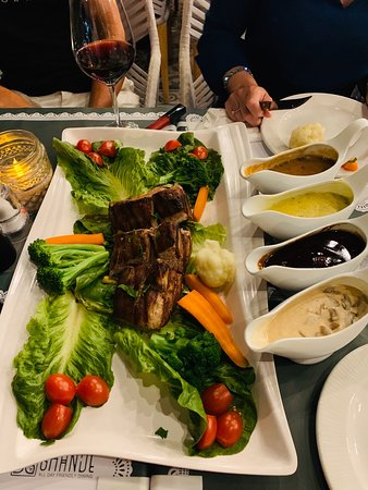 Family dinner with Chateau Briand