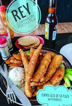 Pochutla, Mexikó: pescado empanizado en tiras, los favoritos de los niños.