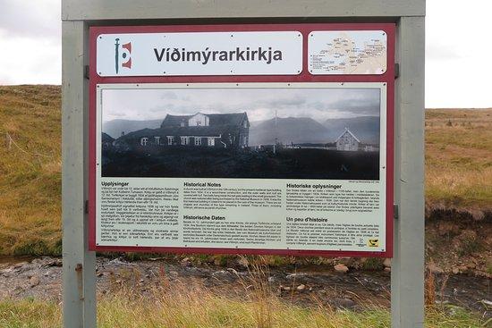 Víðimýrarkirkja Church: Information Panel