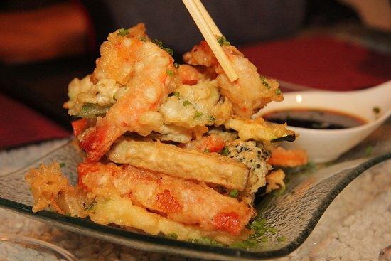 Tempura de verduras y langostinos / Tempura de verdures i llagostins