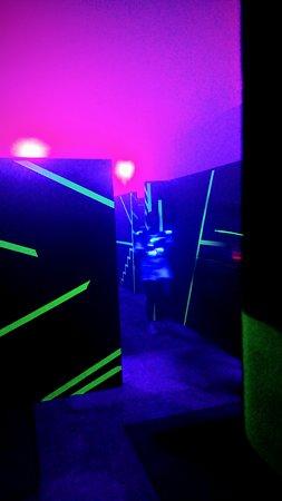 Starzach, เยอรมนี: Lasertag spiel in der LaserHall Börstingen.