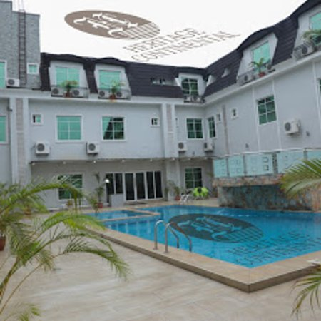 Akure, Nigeria: Heritage continental hotel blue side view for your comfort. relaxation, fresh air and all side fun.