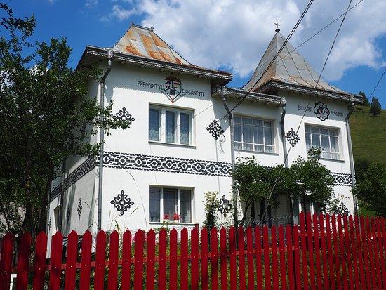 Ciocanesti, Roemenië: Maison  avec frise décorative