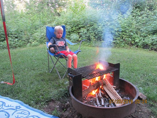 Hoyt Lakes, MN: Almost time for smores!