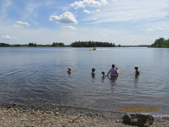 Hoyt Lakes, MN: Unmarked swimming area.....