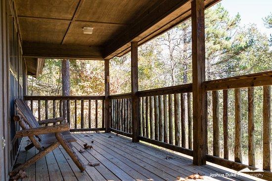 Huntsville, AR: ONSC Lodge - Porch Area