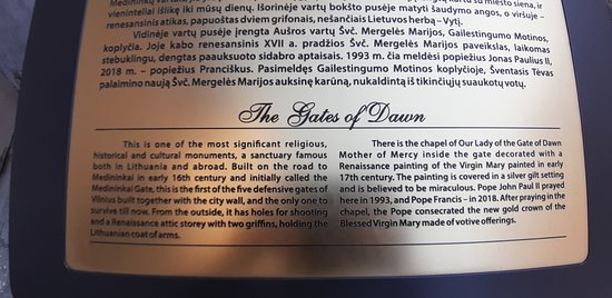 Plaque outside The Gates of Dawn