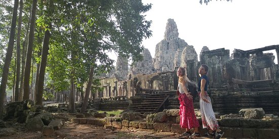 Angkor Thom was a big capital on the late of 12 century to early 13 century.