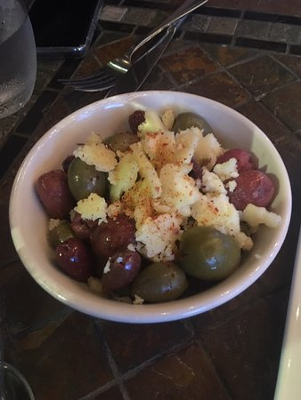 Olives and cheese were decent