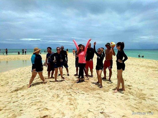 Talibon, Filippinene: Long white sand bar - North Sand Bar Bohol