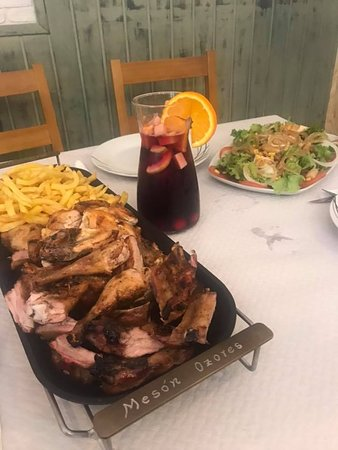 Salceda de Caselas, Hiszpania: Parrillada con Sangria