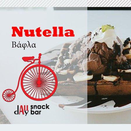 Δημιουργήστε τη δική σας γλυκιά βάφλα με τα αγαπημένα σας υλικά.  #waffle #podilato #koropi #nutella