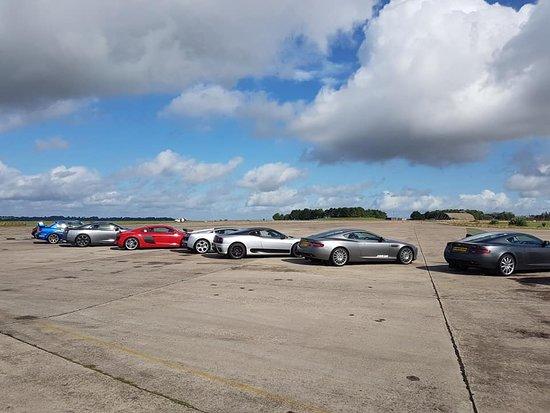 Upper Heyford, UK: Supercar line up