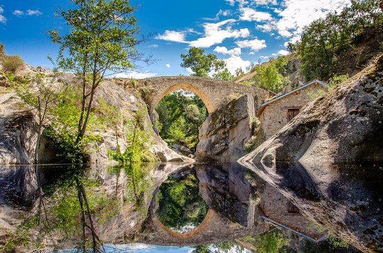 Stone Bridge (Movie Bridge) in Zovik (Zovich) village, Mariovo region