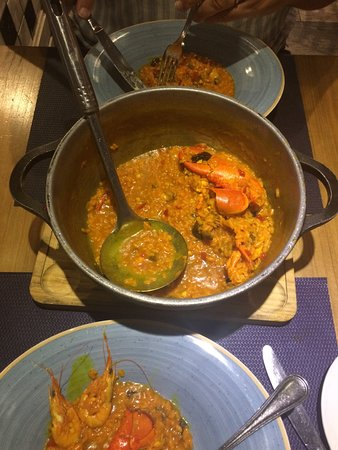 Arroz with lobster