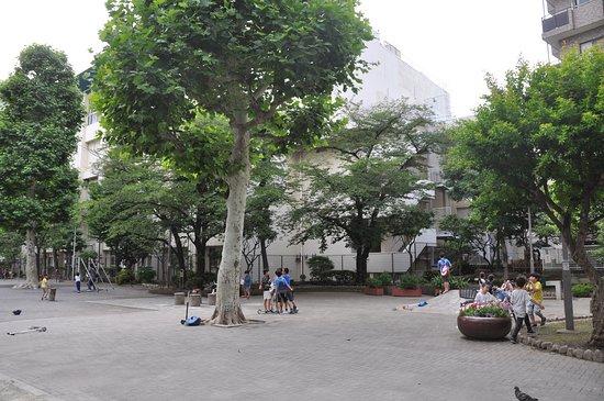 子どもたちの遊び場になっている柳北公園