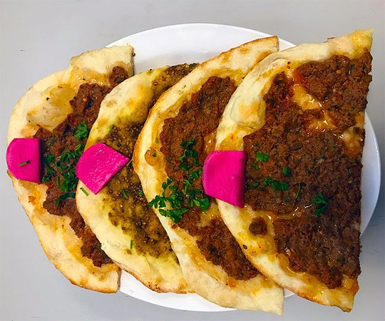 Lower Sackville, Kanada: Meat Zataar (Thyme) cooked in Stone Oven