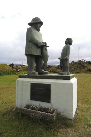 Joklarar, the Glacier People statue