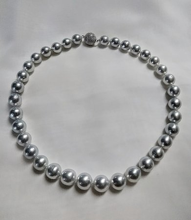 South Sea Natural Prarl Necklace 90cm with a silver clasp