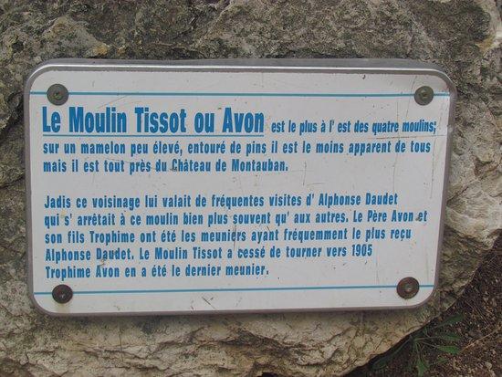 Explications au moulin AVON .