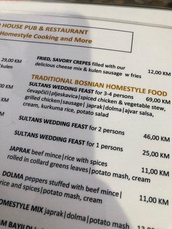 Filling, traditional Bosnian meals
