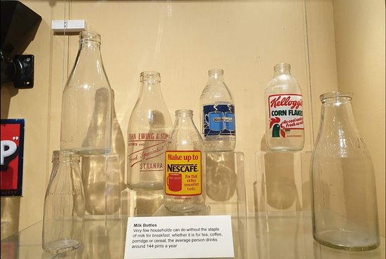 Stranraer Museum: The bottles in the musuem that we spoke about