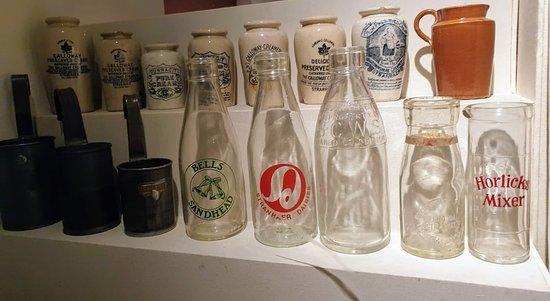 Stranraer Museum: Bottles in the musuem that we spoke about