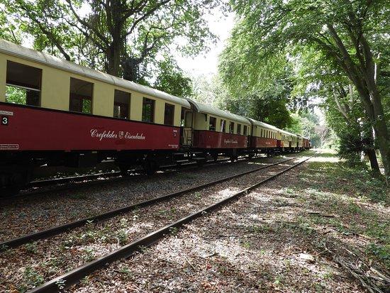 Der historische Schluff Dampfeisenbahn