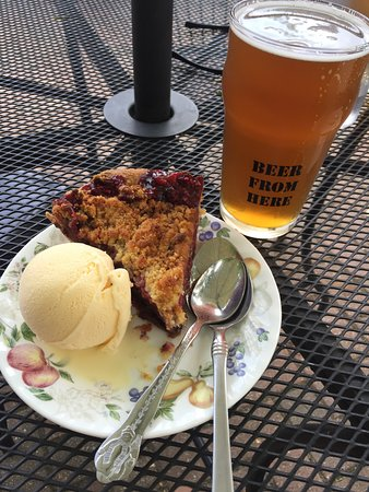New London, MN: Pie a la mode pairs well with a wide variety of beer from Goat Ridge Brewery.