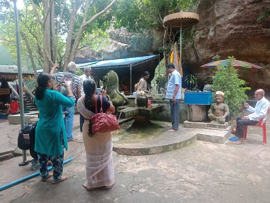 India people pray to linga was standing on the top of Phnom Kulen mountain
