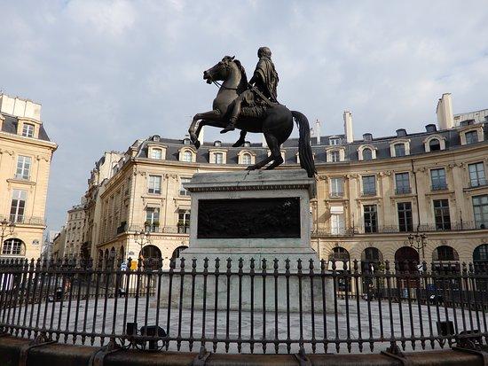 King Louis XIV side view