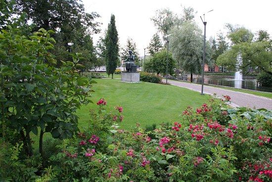 Forssan keskustassa sijaitseva kaunis Ankkalammin puisto.