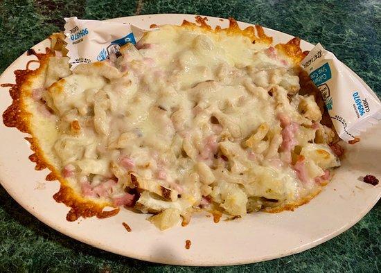 Markle, IN: The Pickle's Chicken Cordon Bleu Potato