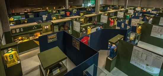 Porto Belo, SC: Vista panorâmica parcial da exposição de longa duração do Museu da História do Futebol. São mais de 3000 peças em exposição, com ítens históricos de todas as edições das Copas do Mundo, desde 1930 até 2018.