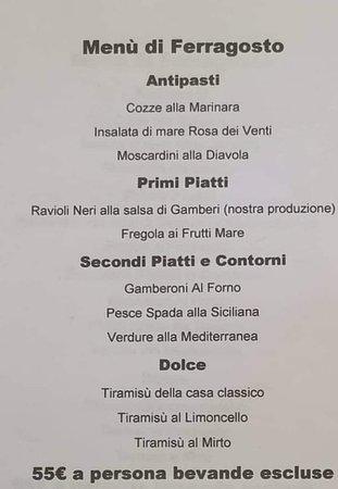 Abbiadori, Włochy: Speciale menù ferragosto