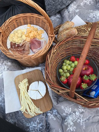 picnic basket provided by hotel