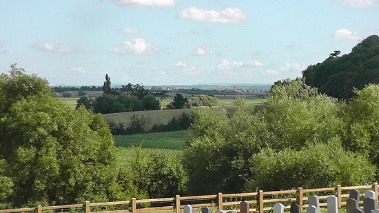 North Curry, UK: View over the Somerset Levels.